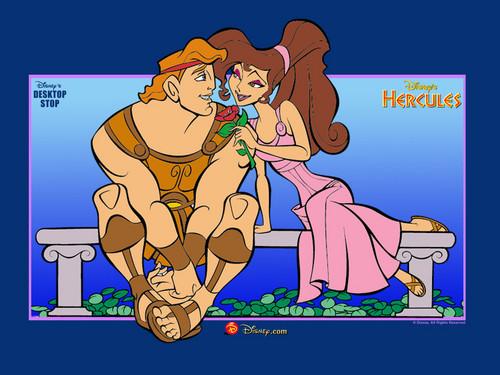 Hercules and Megara Wallpaper