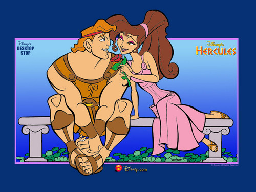Hercules and Megara hình nền