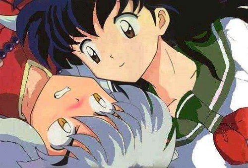 Inuyasha karatasi la kupamba ukuta containing anime entitled InuYasha and Kagome