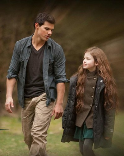 Twilight Series wallpaper probably with an outerwear titled Jacob and Renesmee