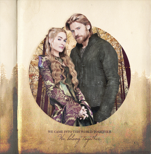 House Lannister wallpaper probably with a sign entitled Jaime & Cersei