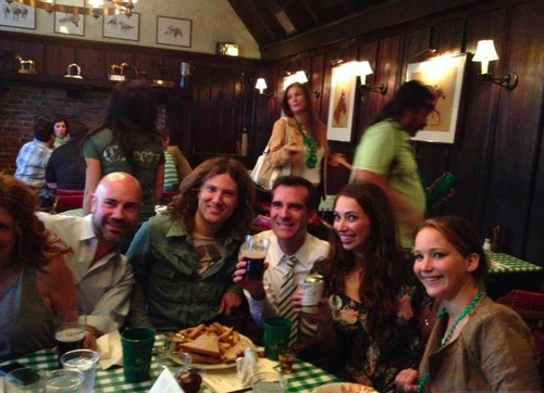 Jennifer celebrating St Patrick's ngày last weekend