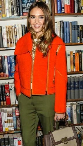 Jessica Alba departs a book signing event