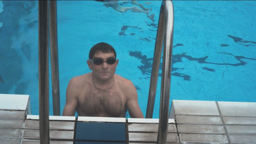 Josef Vana in the pool