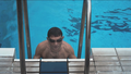 Josef Vana in the pool