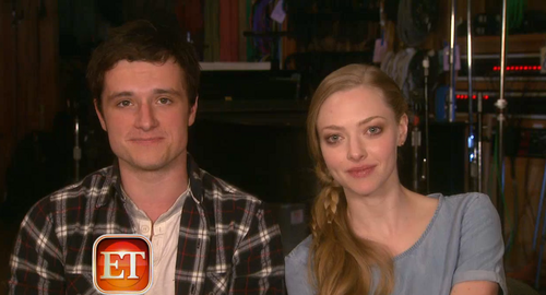 Josh on ET with Amanda Seyfried