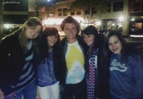 Josh with fans