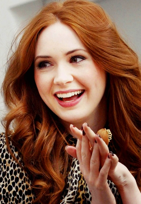 Karen  Karen Gillan Photo (33996595)  Fanpop - Curly Hairstyles For Short Hair
