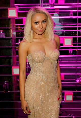 Katerina Graham wallpaper probably containing a cocktail dress and a bustier titled Kat Graham at Victoria's Secret SWIM 2013 Party