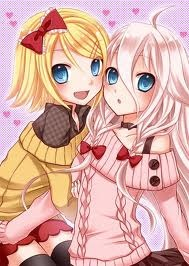 Kawaii Ia and Rin!!