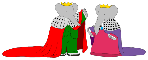 King Babar and queen Celeste - Mantles