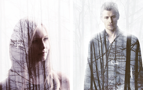 The Vampire Diaries TV Show wallpaper possibly containing a portrait entitled Klaus & Caroline