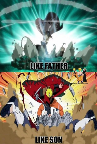 Minato Namikaze wallpaper with anime called Like father, Like son