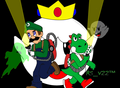 Luigi Gets His Hero On: Hooray for 20 Chapters!  - yoshi fan art