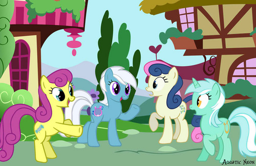 Lyra and Bon Bon and their ancestors