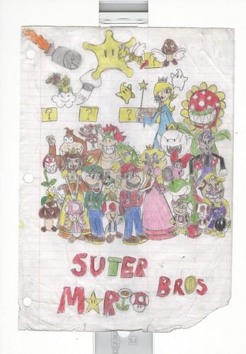 Mario School drawing