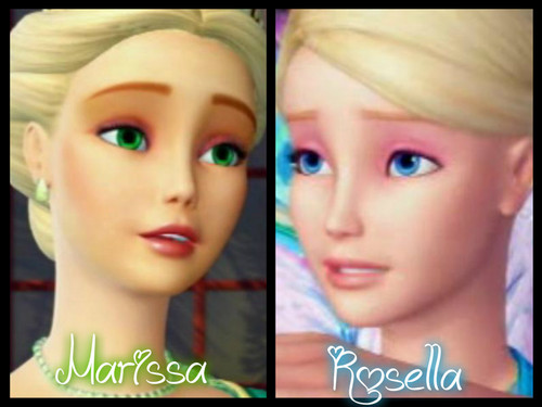 বার্বি as the island princess দেওয়ালপত্র with a portrait called Marissa and Rosella