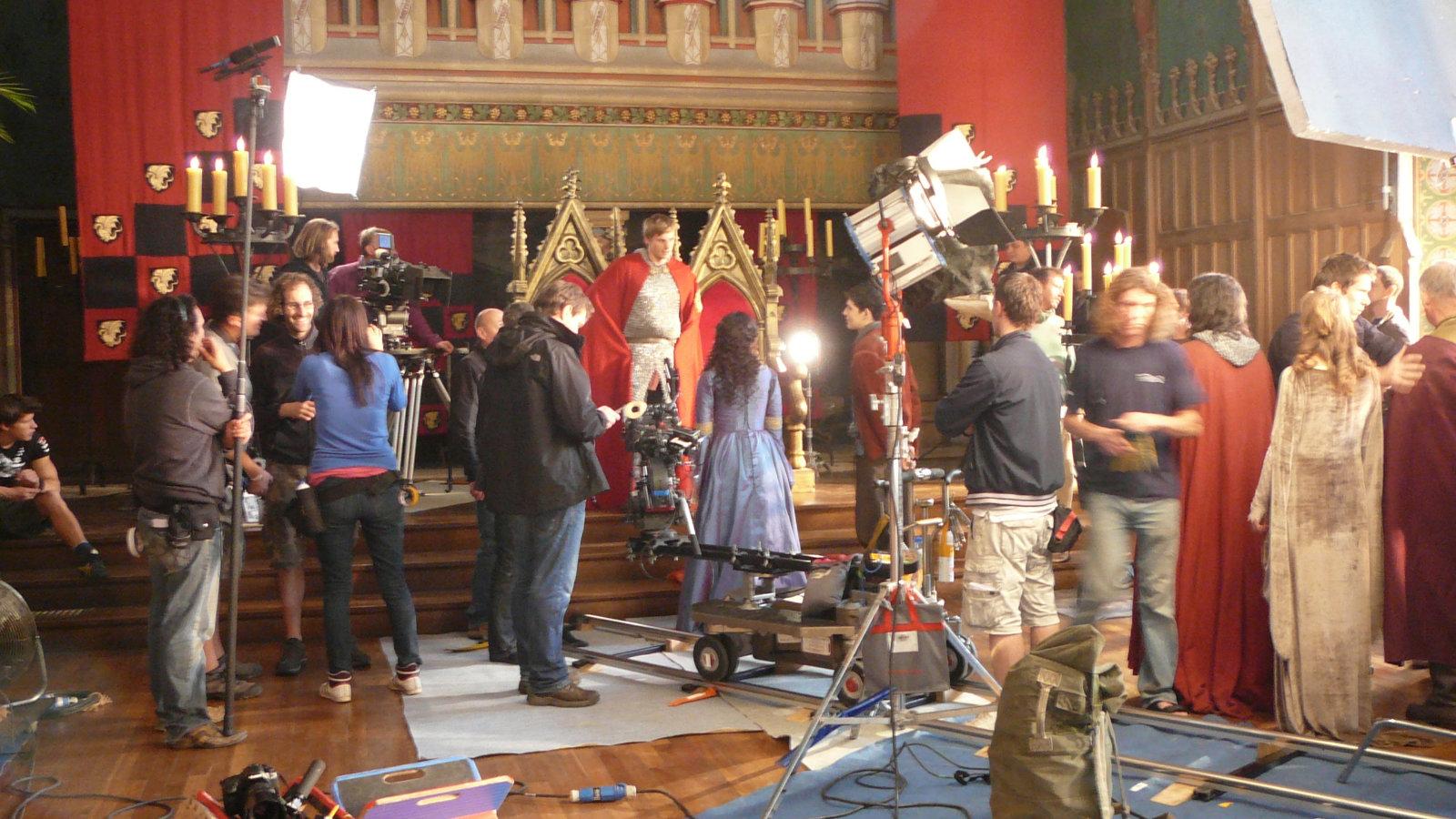 Merlin Behind The Scenes Bradley James Photo 33996698
