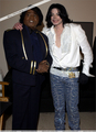 Michael Jackson And James Brown Backstage At The BET Awards Back In 2003 - michael-jackson photo