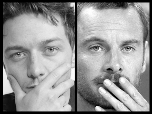 James McAvoy and Michael Fassbender hình nền possibly containing a holding cell titled Michael & James