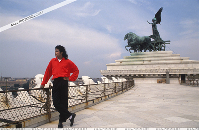 Michael On Tour In Italy Back In 1988