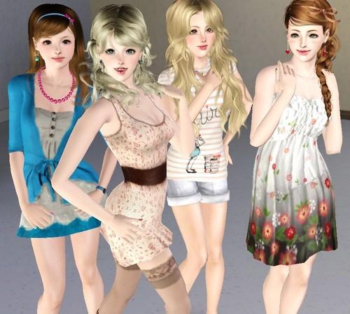 Miki, Precious, Alma and charlotte v2