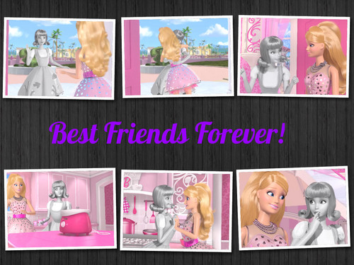 My barbie and Midge collage