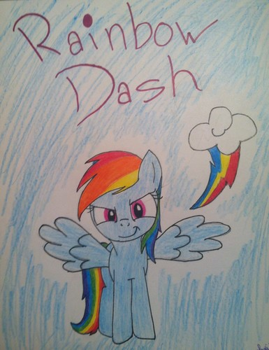 My Dashie Drawing :3