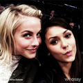 Nina Dobrev and Julianne Hough at Lakers Game 2013/03/17 - nina-dobrev photo