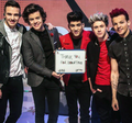 One Direction Red Nose Tag