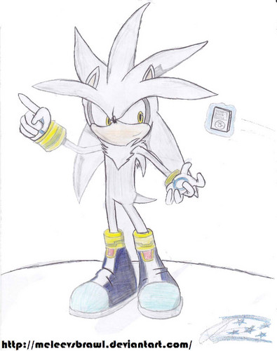 Silver the Hedgehog wallpaper titled One Simple Draw of Silver