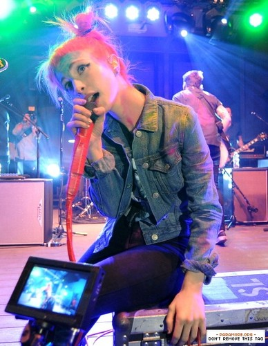 Paramore live at SXSW The Warner Sound - The Belmont, Austin, Texas 13032013