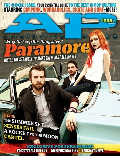 Paramore on the May issue of Alternative Press mag. #298