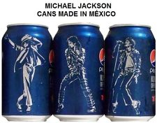Pepsi Cans With Michael's Picture On Them