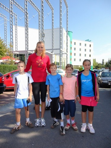 Petra Kvitova and children