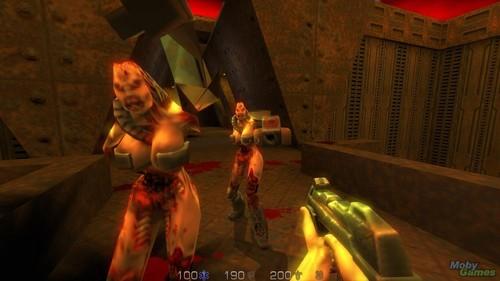 Permainan Video kertas dinding titled Quake II screenshot