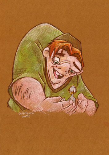 Childhood Animated Movie Heroes kertas dinding called Quasimodo