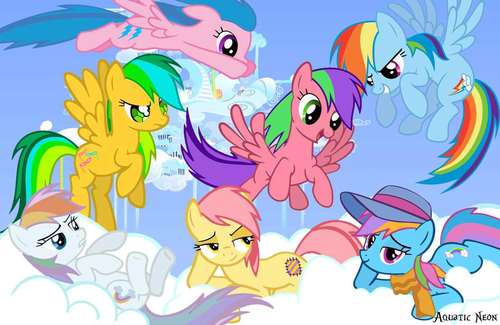 arco iris Dash and her ancestors