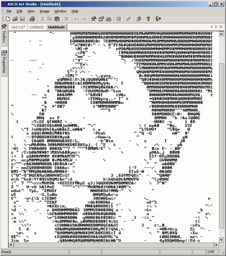 random ASCII from http://wdict.net/word/ascii+art/