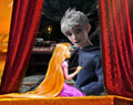 Rapunzel Paints Jack Frost - jack-frost-rise-of-the-guardians fan art