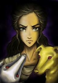 Reyna and her dogs!