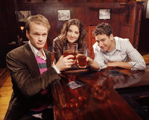 How I Met Your Mother wallpaper containing a coffee break called Robin, Barney & Ted