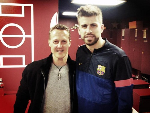 Schumacher and Piqué : small and big head..