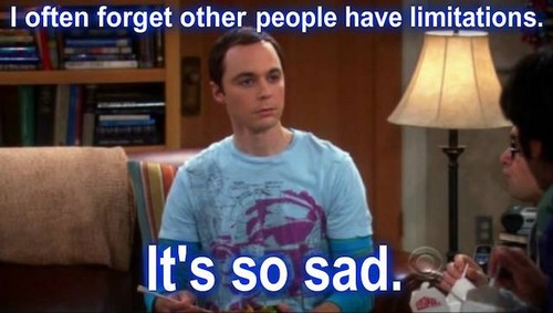 Sheldon Cooper on limitations