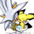 Silver & Pichu - silver-the-hedgehog photo