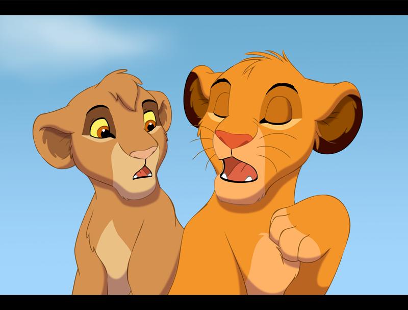 Taller de firmas y avatares de Rey Simba Hakuna Matata  Simba-and-Tama-tama-the-lion-33906397-800-607