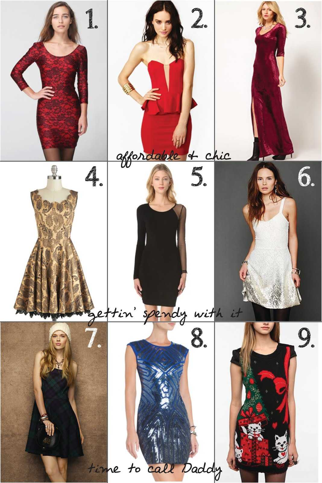 Some cool dresses