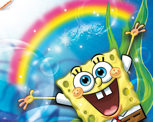 Spongebob Squarepants wallpaper probably containing a stained glass window called Spongebob Schwammkopf