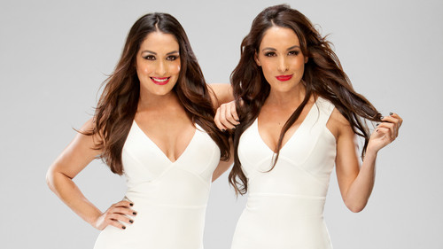 WWE Divas karatasi la kupamba ukuta probably containing a portrait titled The Bella Twins
