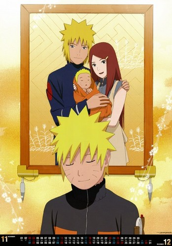Minato Namikaze wallpaper with anime titled The Namikaze family. ~